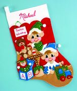 Design Works Crafts Elves Felt Stocking Christmas Craft Kit