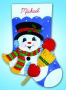 Design Works Crafts Snowman and Broom Felt Stocking Craft Kit