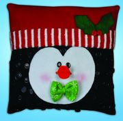Design Works Crafts Penguin Button Pillow Craft Kit