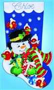 Design Works Crafts Snowman and Cardinals Felt Stocking Craft Kit