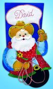 Design Works Crafts Cowboy Santa Felt Stocking Christmas Craft Kit