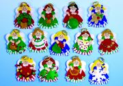 Design Works Crafts Lots of Angels Felt Ornaments Craft Kit