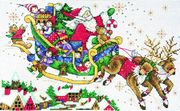 Design Works Crafts Santa's Sleigh Christmas Cross Stitch Kit