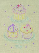 Anchor Cupcakes Embroidery Kit