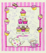 Cupcake Stand - Anchor Cross Stitch Kit