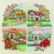 Anchor Seasonal Cottages Cross Stitch Kit