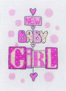 Anchor New Baby Girl Cross Stitch Kit