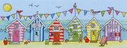Bothy Threads Beach Hut Fun Cross Stitch Kit