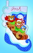 Design Works Crafts Toboggan Bears Stocking Craft Kit