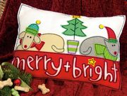 Dimensions Merry and Bright Pillow Craft Kit