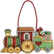 Dimensions Train Ornament Cross Stitch Kit