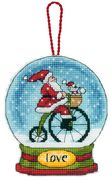 Dimensions Love Globe Ornament Cross Stitch Kit