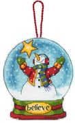 Dimensions Believe Globe Ornament Cross Stitch Kit