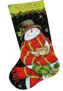 Dimensions Snowman and Bear Stocking Tapestry Kit