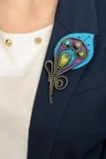 RIOLIS Peacock Feather Brooch Craft Kit