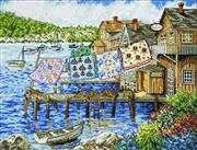Design Works Crafts Dockside Quilts Cross Stitch Kit