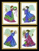 Design Works Crafts Four Christmas Angels Cross Stitch Kit