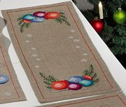 Permin Baubles Runner Christmas Cross Stitch Kit