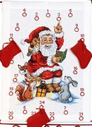 Permin Woodland Santa Advent Christmas Cross Stitch Kit