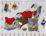 Permin Santa's Rest Advent Christmas Cross Stitch Kit