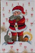 Santa and Cats Advent - Permin Cross Stitch Kit