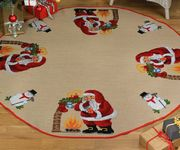 Shhh Tree Skirt - Permin Cross Stitch Kit