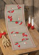 Playful Elves Runner - Permin Cross Stitch Kit