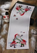 Building the Snowman Runner - Permin Cross Stitch Kit
