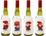 Elf and Toadstool Wine Aprons - Permin Cross Stitch Kit