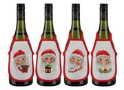 Santa Faces Wine Aprons - Permin Cross Stitch Kit