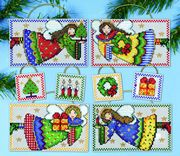 Design Works Crafts Folk Art Angel Ornaments Cross Stitch Kit