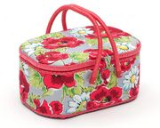 Hobby Gift Daisy and Poppy Oval Sewing Box Large