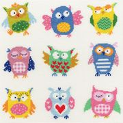 Bothy Threads Slightly Dotty Owls Cross Stitch Kit