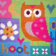 Hoot - Stitching Shed Tapestry Kit