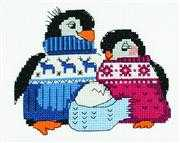 RIOLIS Friendly Penguin Family Cross Stitch Kit
