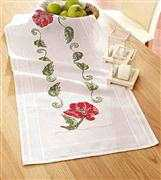 Deco-Line Red Poppy Table Runner Cross Stitch Kit