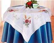 Deco-Line Summer Flower Tablecloth Cross Stitch Kit
