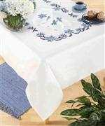 Deco-Line Blue Flower Tablecloth Cross Stitch Kit