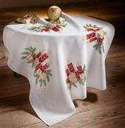 Deco-Line Candle and Baubles Tablecloth Christmas Cross Stitch Kit
