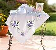 Deco-Line Blue Daisy Tablecloth Embroidery Kit