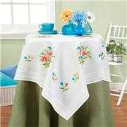 Deco-Line Simple Flowers Tablecloth Cross Stitch Kit