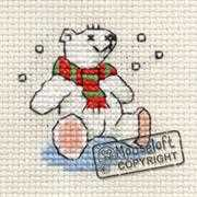 Polar Bear - Mouseloft Cross Stitch Card Design