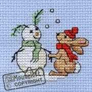 Snowbunny - Mouseloft Cross Stitch Card Design