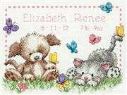 Pet Friends Birth Record - Dimensions Cross Stitch Kit