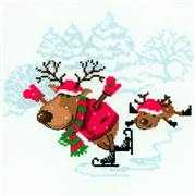 RIOLIS Skating Reindeer Cross Stitch Kit