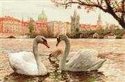 Prague Swans - RIOLIS Cross Stitch Kit
