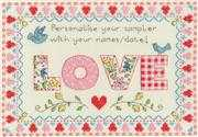 Love Sampler - Bothy Threads Cross Stitch Kit