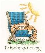 I Don't Do Busy - Evenweave - Heritage Cross Stitch Kit