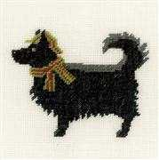 Lanarte Dog and Hat Cross Stitch Kit