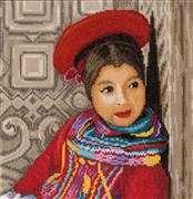 Lanarte Peruvian Girl - Aida Cross Stitch Kit